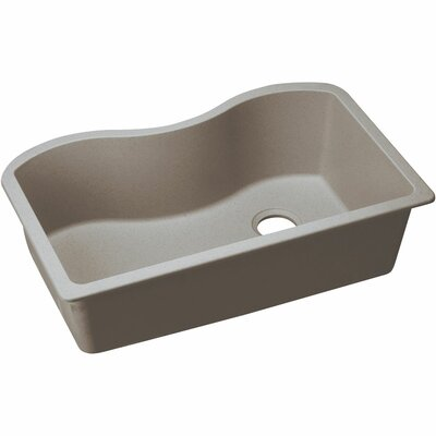 Classic 33 x 20 Single Bowl Kitchen Sink Finish: Greige