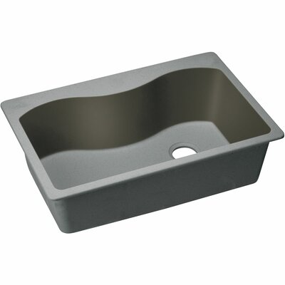 Quartz Classic 33 x 22 Single Bowl Top Kitchen Sink Finish: Greystone