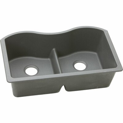 Classic 33 x 20 Double Bowl Kitchen Sink Finish: Greystone