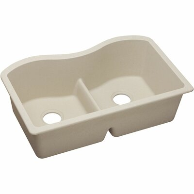 Classic 33 x 20 Double Bowl Kitchen Sink Finish: Putty
