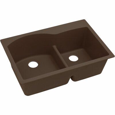 Classic 33 x 22 Double Bowl Top Kitchen Sink Finish: Mocha