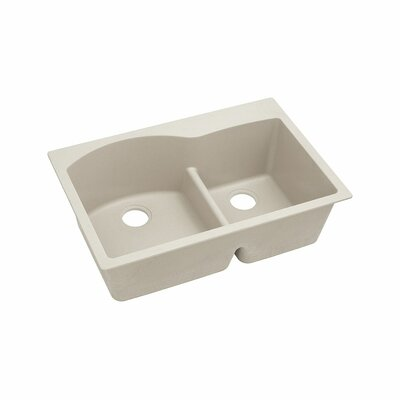 Classic 33 x 22 Double Bowl Top Kitchen Sink Finish: Bisque