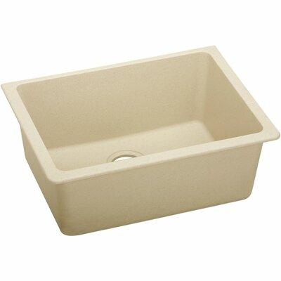Classic 25 x 18.5 Single Bowl Kitchen Sink Finish: Sand