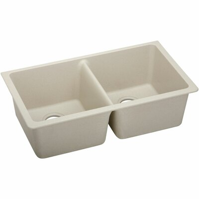 Classic 33 x 18.8 Double Bowl Kitchen Sink Finish: Putty