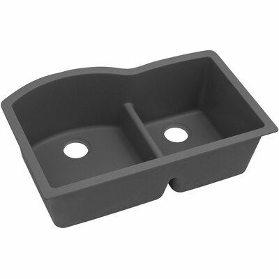 Classic 33 x 22 Double Bowl Kitchen Sink Finish: Dusk Gray