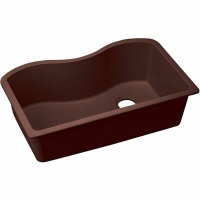 Classic 33 x 20 Single Bowl Kitchen Sink Finish: Pecan