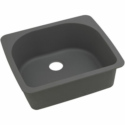 Classic 25 x 22 Single Bowl Top Kitchen Sink Finish: Dusk Gray