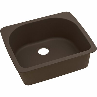 Classic 25 x 22 Single Bowl Top Kitchen Sink Finish: Mocha