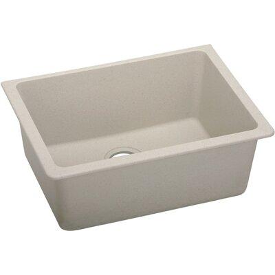 Classic 25 x 18.5 Single Bowl Kitchen Sink Finish: Putty