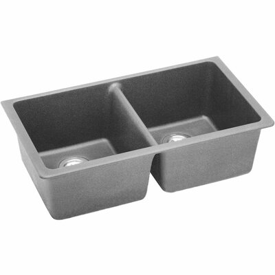 Classic 33 x 18.8 Double Bowl Kitchen Sink Finish: Greystone
