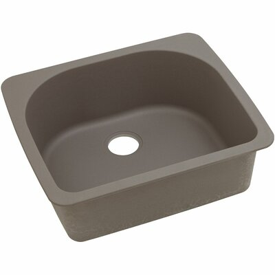 Classic 25 x 22 Single Bowl Top Kitchen Sink Finish: Greige