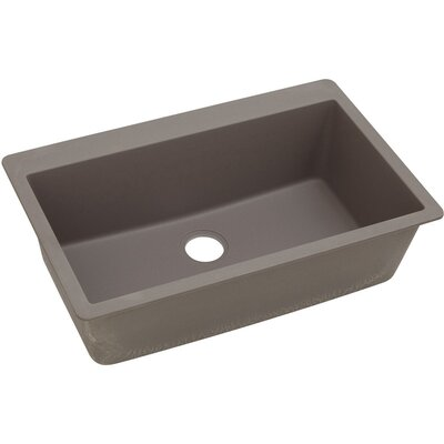 Classic 33 x 20.8 Single Bowl Top Kitchen Sink Finish: Greige