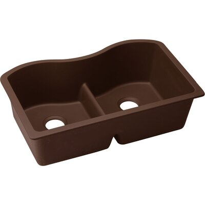 Classic 33 x 20 Double Bowl Kitchen Sink Finish: Pecan