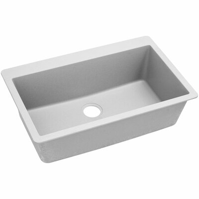 Classic 33 x 20.8 Single Bowl Top Kitchen Sink Finish: White