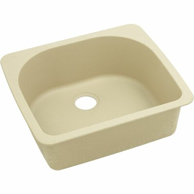 Classic 25 x 22 Single Bowl Top Kitchen Sink Finish: Sand