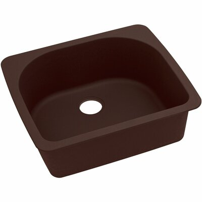 Classic 25 x 22 Single Bowl Top Kitchen Sink Finish: Pecan