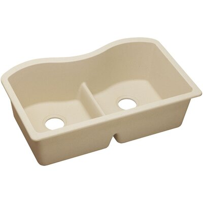 Classic 33 x 20 Double Bowl Kitchen Sink Finish: Sand