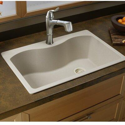 Quartz Classic 33 x 22 Single Bowl Top Kitchen Sink Finish: Putty