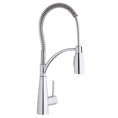 Avado Single Handle Deck Mount Kitchen Faucet with Pre Rinse Spray Finish: Chrome