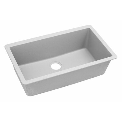 Classic 33 x 18.4 Single Bowl Kitchen Sink Finish: White