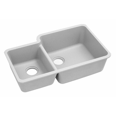 Classic 33 x 20.7 Double Bowl Kitchen Sink Finish: White