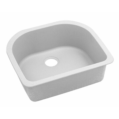 Classic 25 x 22 Single Bowl Kitchen Sink Finish: White