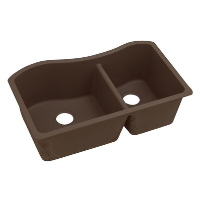 Classic 32.5 x 20 Double Bowl Kitchen Sink Finish: Mocha