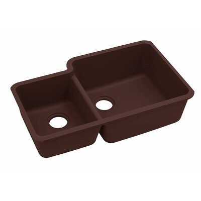 Classic 33 x 20.7 Double Bowl Kitchen Sink Finish: Pecan
