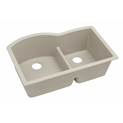 Classic 33 x 22 Double Bowl Kitchen Sink Finish: Putty