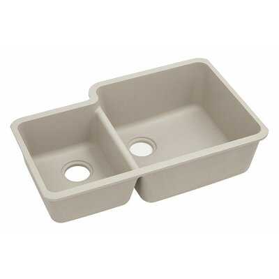 Classic 33 x 20.7 Double Bowl Kitchen Sink Finish: Putty
