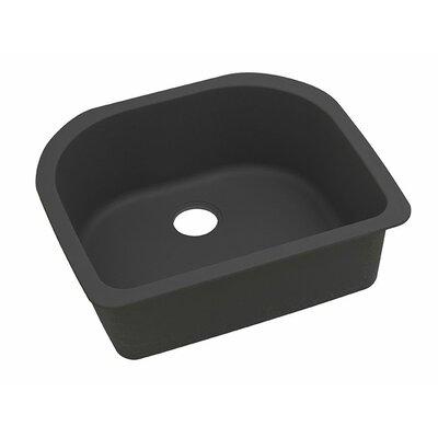 Classic 25 x 22 Single Bowl Kitchen Sink Finish: Black
