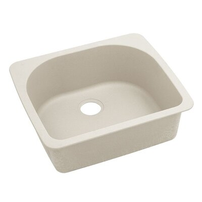 Classic 25 x 22 Single Bowl Top Kitchen Sink Finish: Bisque