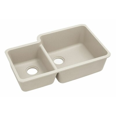 Classic 33 x 20.7 Double Bowl Kitchen Sink Finish: Bisque