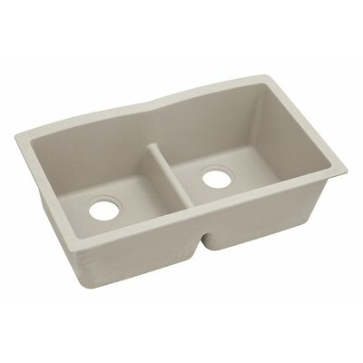 Classic 33 x 19 Double Bowl Kitchen Sink Finish: Putty