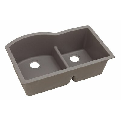 Classic 33 x 22 Double Bowl Kitchen Sink Finish: Greige