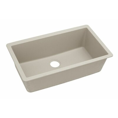 Classic 33 x 18.4 Single Bowl Kitchen Sink Finish: Putty