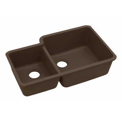Classic 33 x 20.7 Double Bowl Kitchen Sink Finish: Mocha