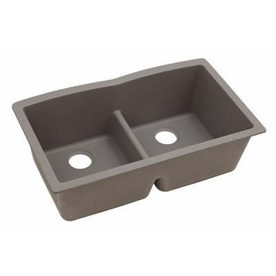 Classic 33 x 19 Double Bowl Kitchen Sink Finish: Greige