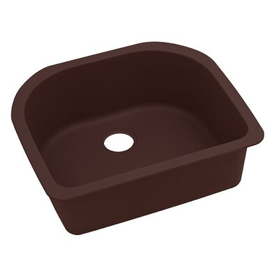 Classic 25 x 22 Single Bowl Kitchen Sink Finish: Pecan