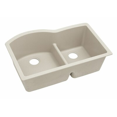 Classic 33 x 22 Double Bowl Kitchen Sink Finish: Bisque