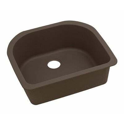 Classic 25 x 22 Single Bowl Kitchen Sink Finish: Mocha