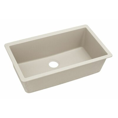 Classic 33 x 18.4 Single Bowl Kitchen Sink Finish: Bisque