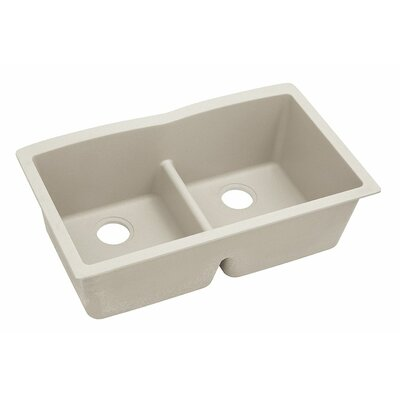 Classic 33 x 19 Double Bowl Kitchen Sink Finish: Bisque