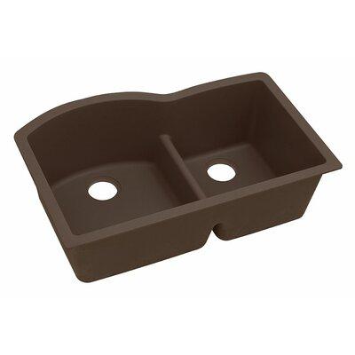 Classic 33 x 22 Double Bowl Kitchen Sink Finish: Mocha