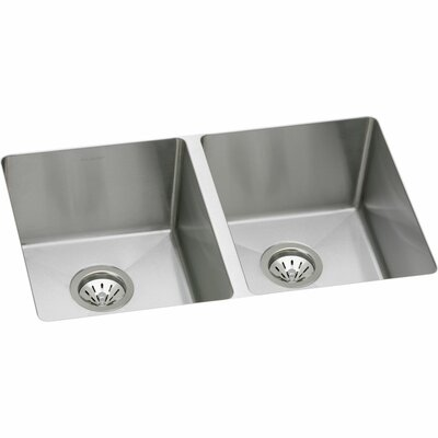 Avado 30.75 x 18.5 Stainless Steel Double Bowl Undermount Kitchen Sink