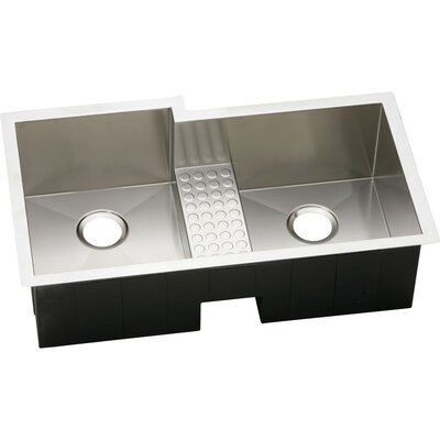Avado 35.5 x 20.5 Stainless Steel Double Bowl Undermount Kitchen Sink