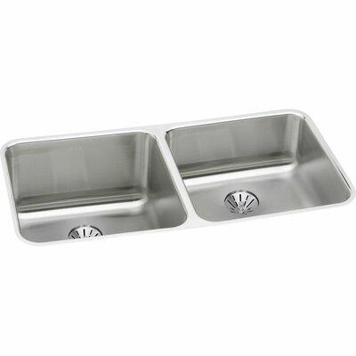 Gourmet 30.75 x 18.5 Double Basin Undermount Kitchen Sink