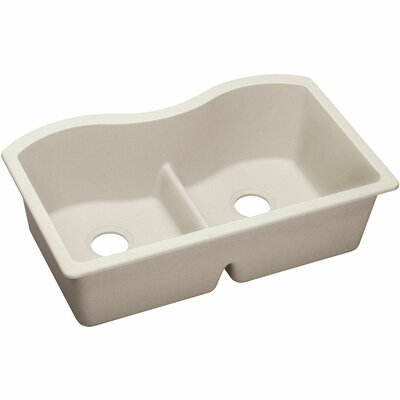 Quartz Luxe 33 x 20 Double Bowl Undermount Kitchen Sink Finish: Ricotta