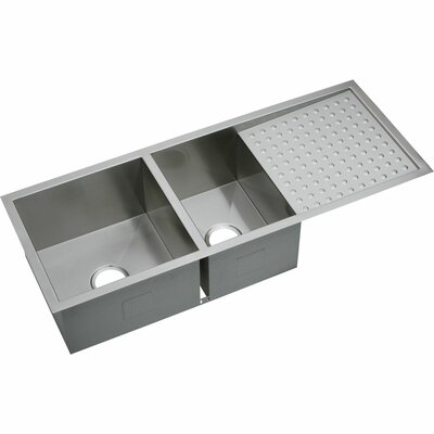 Avado 47.25 x 18.5 Stainless Steel Double Bowl Undermount Kitchen Sink