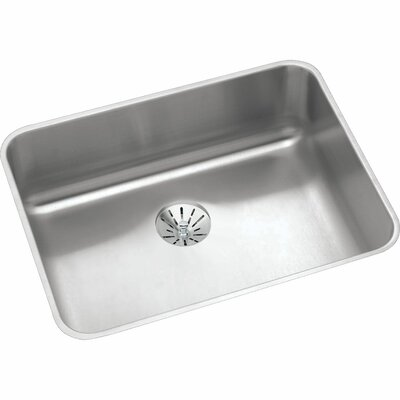 Gourmet 23.5 x 18.25 Stainless Steel Single Bowl Undermount Kitchen Sink